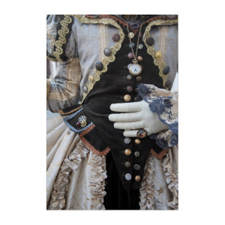 Steampunk bodice, Carnival, Venice Acrylic Print