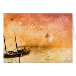 Steampunk Bon Voyage Quote Greeting Card