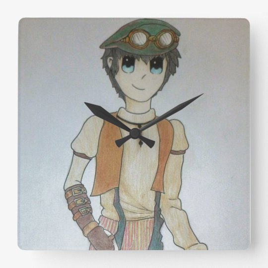 Steampunk Boy Clock