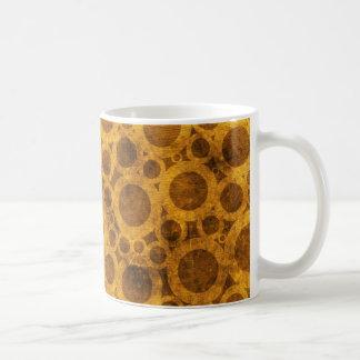 Steampunk Brown Gold Grunge Abstract Pattern Mug