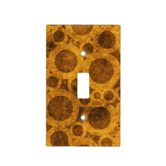 Steampunk Brown Gold Grunge Light Switch Cover