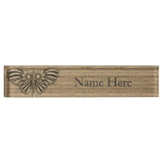 Steampunk Butterfly Desk Name Plate
