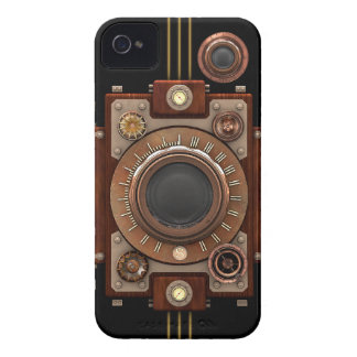 Steampunk Camera #1B (Black) iPhone 4 Cover