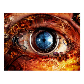 Steampunk Camera Eye Postcard
