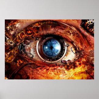 Steampunk Camera Eye Poster