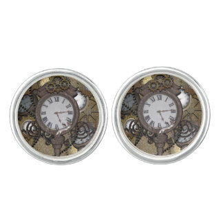 Steampunk can you sea the funny gecko cuff links