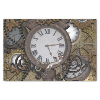 Steampunk  can you sea the funny gecko? tissue paper