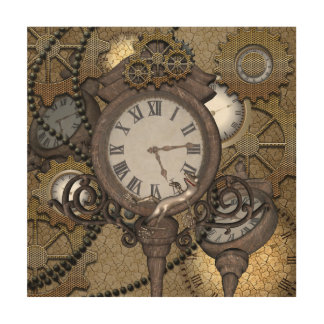 Steampunk can you sea the funny gecko wood prints