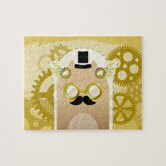 Steampunk Cat 8x10 Photo Puzzle with Gift Box