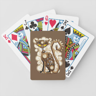 Steampunk Cat Bicycle Playing Cards