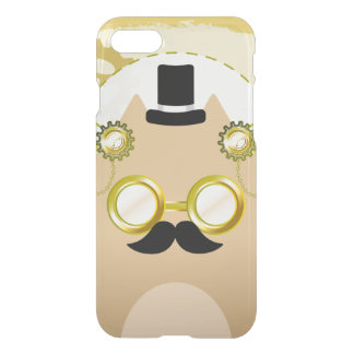 Steampunk Cat iPhone 7 Clearly™ Deflector Case