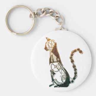 Steampunk cat keychain