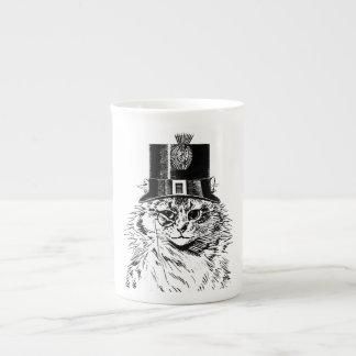Steampunk Cat Mug, Kitty in Top Hat Tea Cup