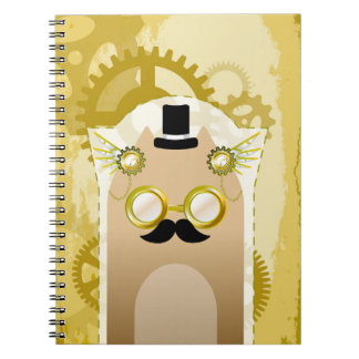 Steampunk+Cat Notebook (80 Pages B&W)