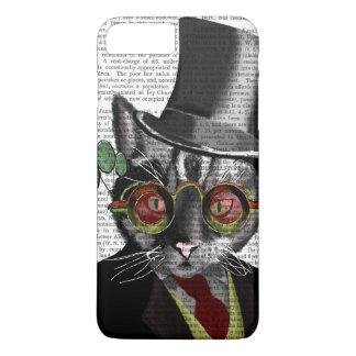 Steampunk Cat - Top Hat and red yellow glasses iPhone 7 Plus Case