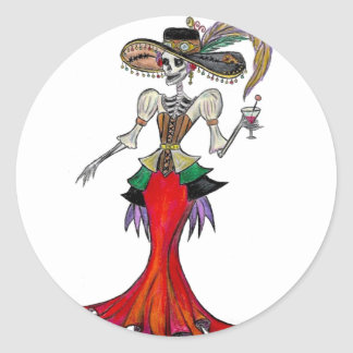 Steampunk Catrina, Dia de los Muertos sticker