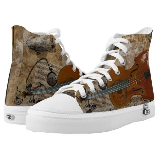 Steampunk Cello Suite High Tops