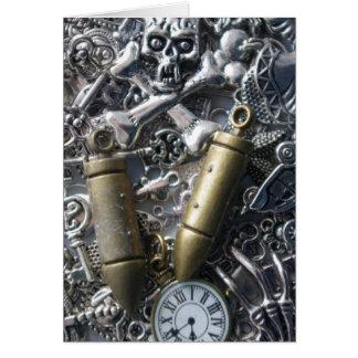 Steampunk charms card