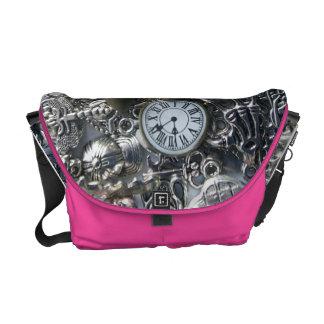 Steampunk charms messenger bag