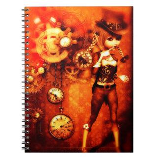 Steampunk Chic Spiral Notebook