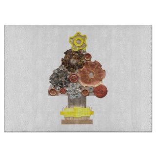 Steampunk Christmas Tree Chopping Board