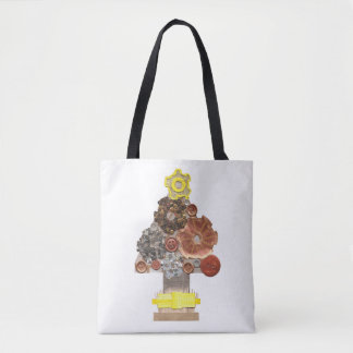 Steampunk Christmas Tree No Background Tote Bag