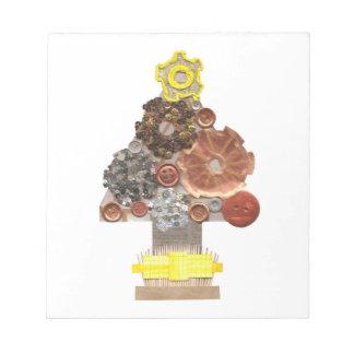 Steampunk Christmas Tree Notepad