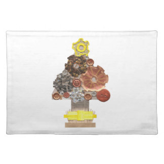 Steampunk Christmas Tree Placemat
