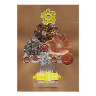 Steampunk Christmas Tree Poster