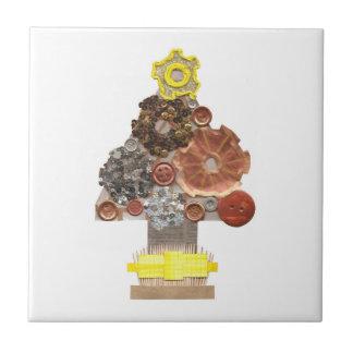 Steampunk Christmas Tree Tile