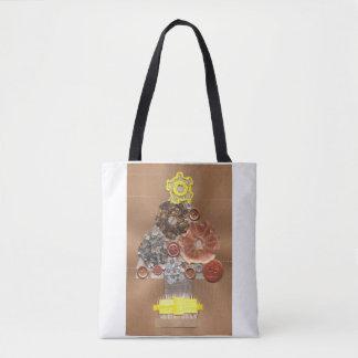 Steampunk Christmas Tree Tote Bag