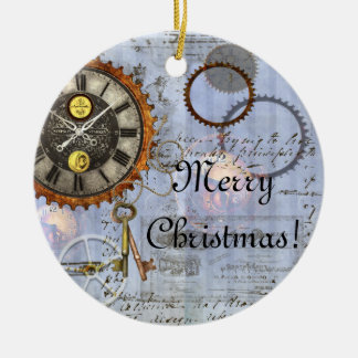 Steampunk Clock Christmas Ornament