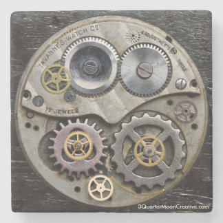 Steampunk Clock Gear Coaster