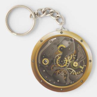 Steampunk clock keychain