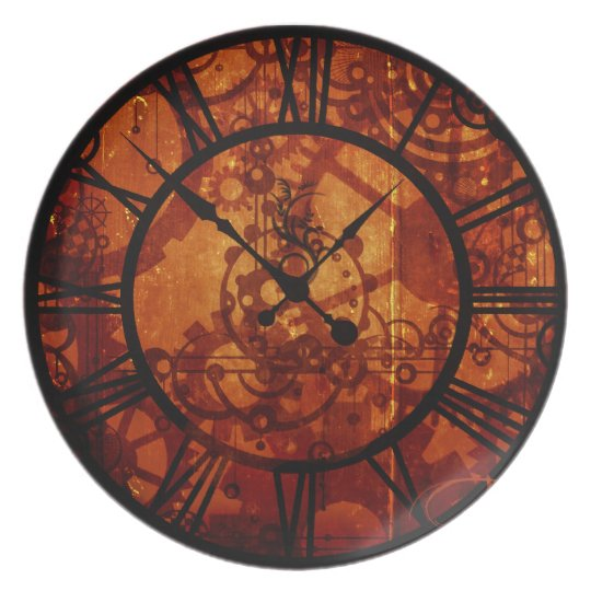 Steampunk clock Plate