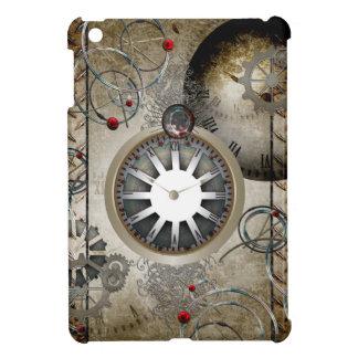 Steampunk, clocks and gears iPad mini cases