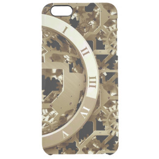 Steampunk Clocks  Gold Gears Mechanical Gifts Uncommon Clearly™ Deflector iPhone 6 Plus Case