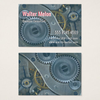 Steampunk Clockwork Gears Cogs Wheels Business Card