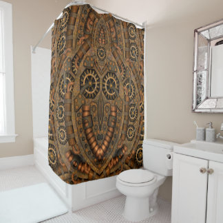 Steampunk Clockwork Vintage Shower Curtain