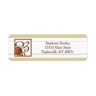 Steampunk Cogs Gears Wedding Return Address Label