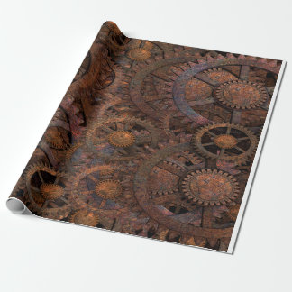 Steampunk Cogs Wheels Wrapping Paper