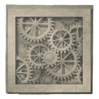 Steampunk Cogwheels (2 sides) Queen Duvet Cover