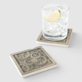 Steampunk Cogwheels Stone Coaster