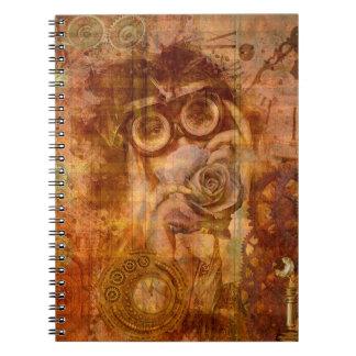 Steampunk Collage Notebook