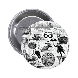 Steampunk Collage Number 2 2 Inch Round Button
