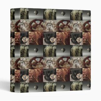 Steampunk Collage Ringbinder Folder Binder