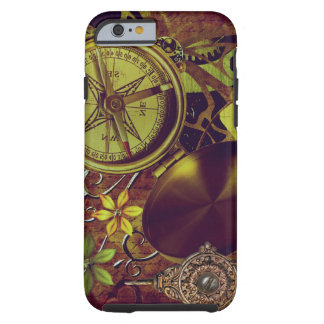 Steampunk Compass Pocket Watch Fan Gears Tough iPhone 6 Case