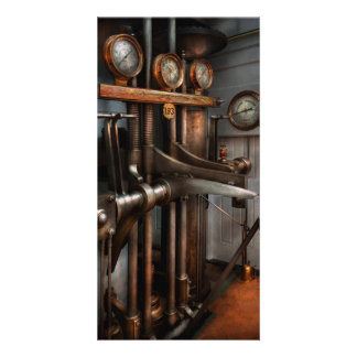 Steampunk - Controls - The Steamship control room Picture Card