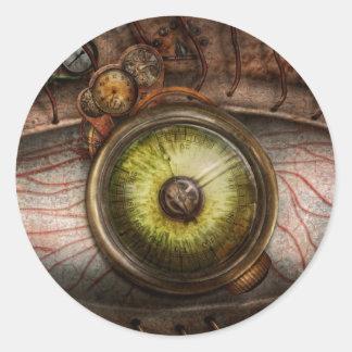 Steampunk - Creepy - Eye on technology Classic Round Sticker