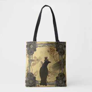 SteamPunk Crow Tote Bag